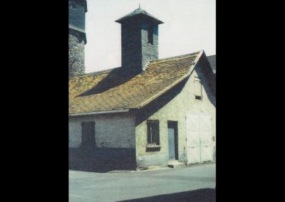 Das alte Gerätehaus am Tanzhof vor dem Abriss