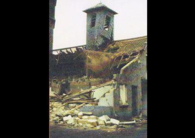 Abriss des alten Gerätehauses am Tanzhof