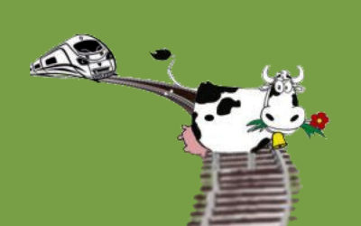 """Reaktivierung der Horlofftalbahn """"…die Kuh muss vom Gleis !!!"""""""